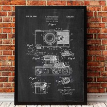 Camera Patent Vintage Print Abstract Canvas Painting Retro Camera Blueprint Painting Pictures For Photography Wall Decoration vintage abstract print jeggings