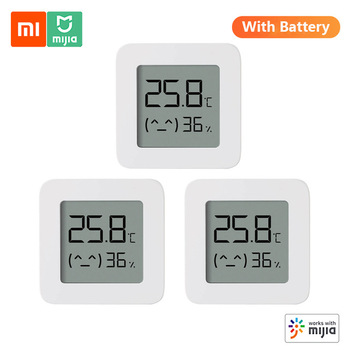 2020New Version Xiaomi Mijia Bluetooth Thermometer 2 Wireless Smart Electric Digital Hygrometer Thermometer Humidity Sensor Home 1