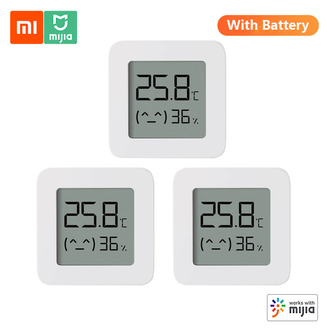 2020nova versão xiaomi mijia bluetooth termômetro 2 sem fio inteligente elétrico digital higrômetro termômetro sensor de umidade casa|Instrumentos de temperatura|   -