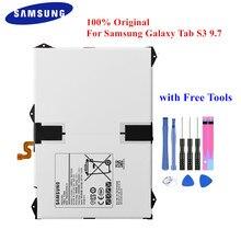 Orijinal pil EB BT825ABE Samsung Galaxy Tab için S3 9.7 inç SM T825C SM T820 T825 T825Y 6000mAh Tablet Accu + ücretsiz araçları