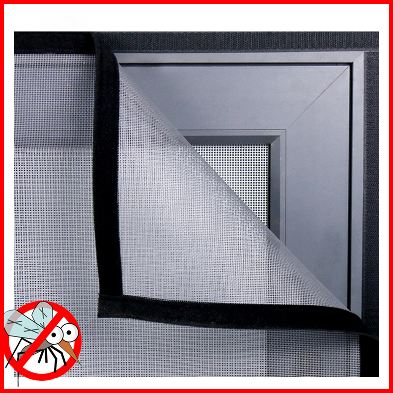 Insect Window Screen Mesh,Indoor Anti Fly Curtain Tulle Summer Invisible Anti-Mosquito Removable Washable Customize Screen Net 2
