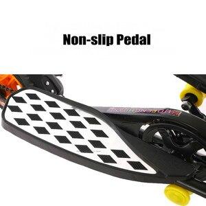 Image 3 - O trotinette dobrável do pedal para adolescentes, o trotinette inflável da roda da liga de alumínio 10 Polegada pode carregar 90kg, scooter do exercício da aptidão