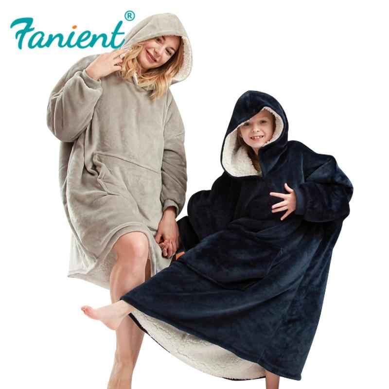 Fleece Hoodie Sweatshirt For Women Oversize Hoody Sweatshirt Blanket Sherpa Coats Comfy Pullover Femme Christmas Sudadera Mujer