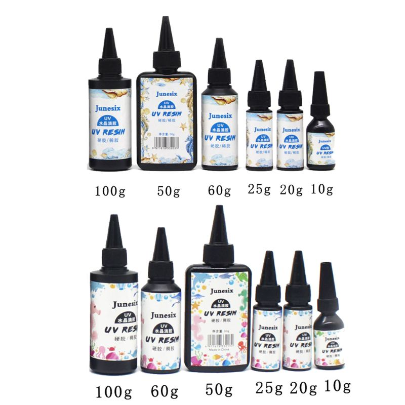 10/20/25/50/60/100g Ultraviolet Curing Epoxy UV Resin Hard Glue Transparent LED Cure For DIY Jewelry Making