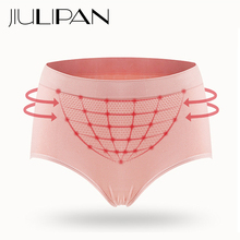 JIULIPAN Cotton No Trace Middle Waist Lace Panties Antibacterial Hive Warm Palace Abdomen Hips Womens Underwear