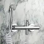 Bidet Rubinetti In Ottone Toilet Spruzzatore Rubinetto del Bicromato di Potassio Doccia Bidet Rubinetto Del Bagno Wc Bidet Calda E Fredda Accessori Da Bagno