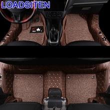 Automobile Modification Auto Decoration Parts Mouldings Interior Modified Styling Car Carpet Floor Mats FOR Peugeot 301