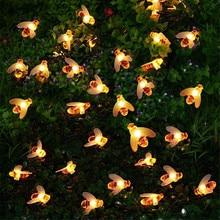 20 светодиодный/30 светодиодный/40 светодиодный в форме пчелы светодиодный гирлянды на батарейках рождественские гирлянды сказочные огни для праздничной вечеринки садовый декор