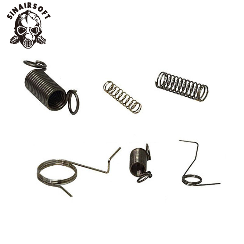 SINAIRSOFT SHS Full Steel Gearbox Spring Set For Shooting Paintball Hunting Airsoft AEG Ver. 2  Free Shipping