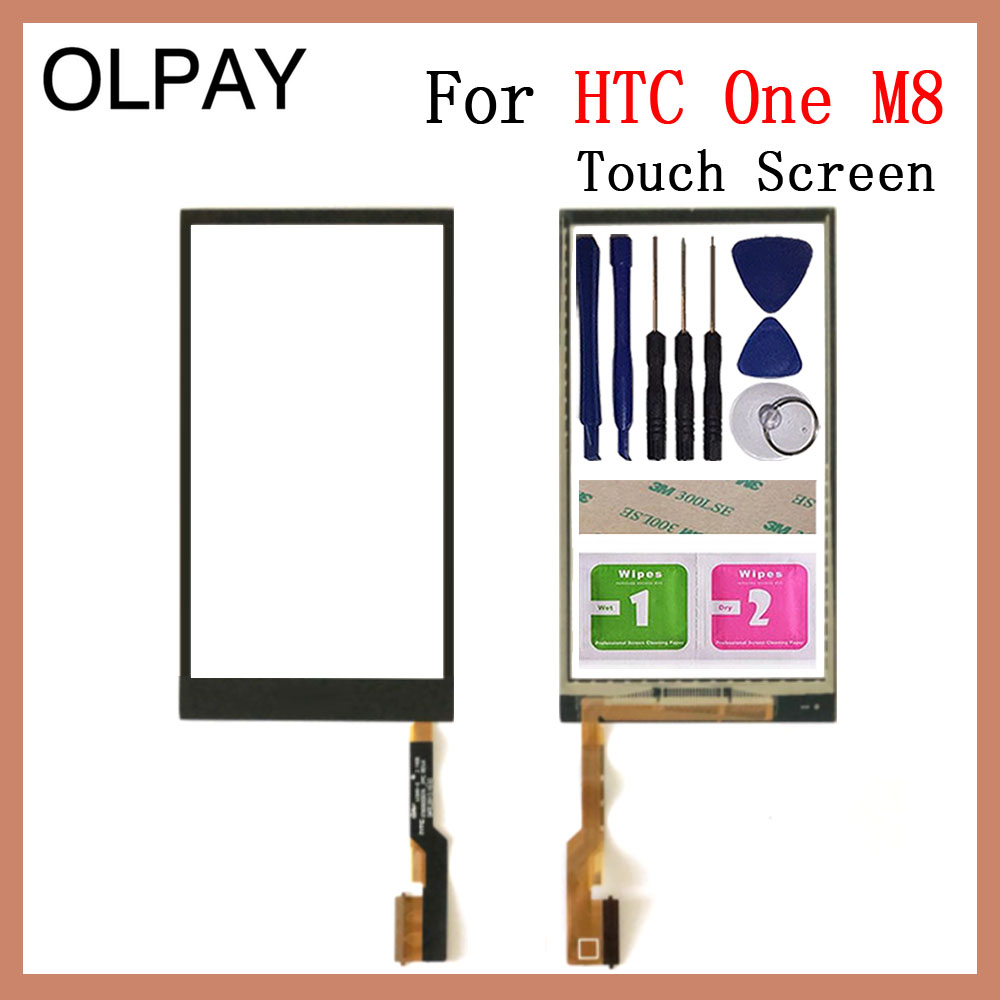 Mobile 5.0'' Inch Touch Screen For HTC One M8 Touch Screen Digitizer Panel Repair Parts Touch Screen Front Glass Lens Sensor