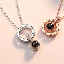 Necklace 100 Language Love Women New Style Personality Round Shape All-match Exquisite Alloy