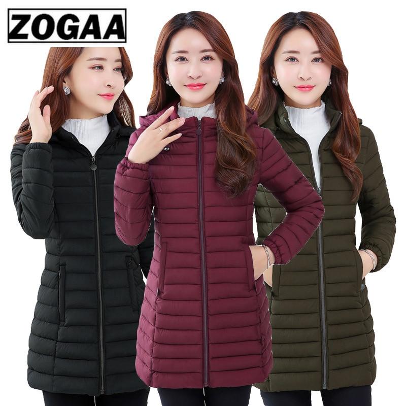 ZOGAA Winter Jacket Women Parka Large Size Thicken Warm Hooded Long Slim Down Cotton Coat Jacket Women Outwear Parkas 5XL 6XL