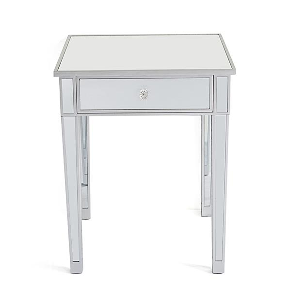 Modern And Contemporary Large 1 Drawer Mirrored Nightstand , Bedroom Furniture , Bedside Table , Easy To Install Durable In Use.