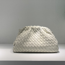 New cowhide woven bag cloud bag leather pleated bag