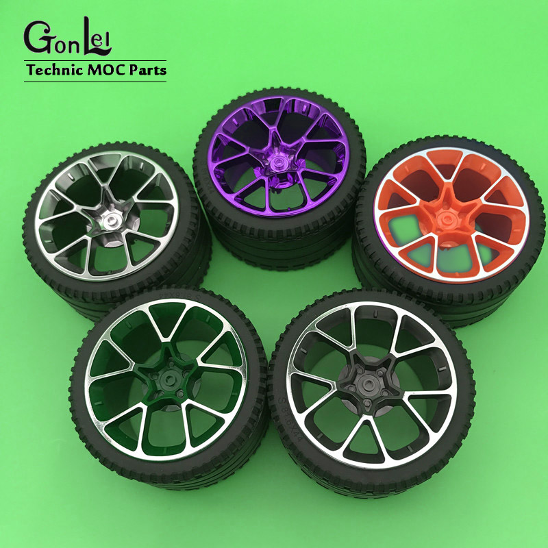 NEW Single Sale Technic Tyre 81.6*44mm ZR Mechanical Wheel Tyre No.23799+37383 Fit For <font><b>42083</b></font> DIY Building Blocks Toys image