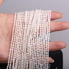 Branelli allentati del punzone di forma del riso di alta qualità con perline d'acqua dolce naturali per fare gioielli accessori collana braccialetto fai da te