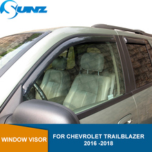 サイドウィンドウ用シボレートレイルブレイザー2016 2017 2018車の窓ディフレクターバイザー雨ガードsunz