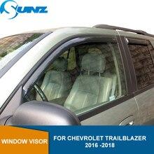 Déflecteurs de fenêtre latérale pour Chevrolet Trailblazer 2016 2017 2018 déflecteur de fenêtre de voiture visière évent pluie gardes SUNZ