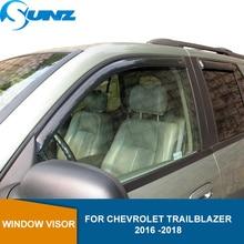 Yan pencere Deflector Chevrolet Trailblazer için 2016 2017 2018 araba cam deflektör vizör havalandırma yağmur muhafızları SUNZ