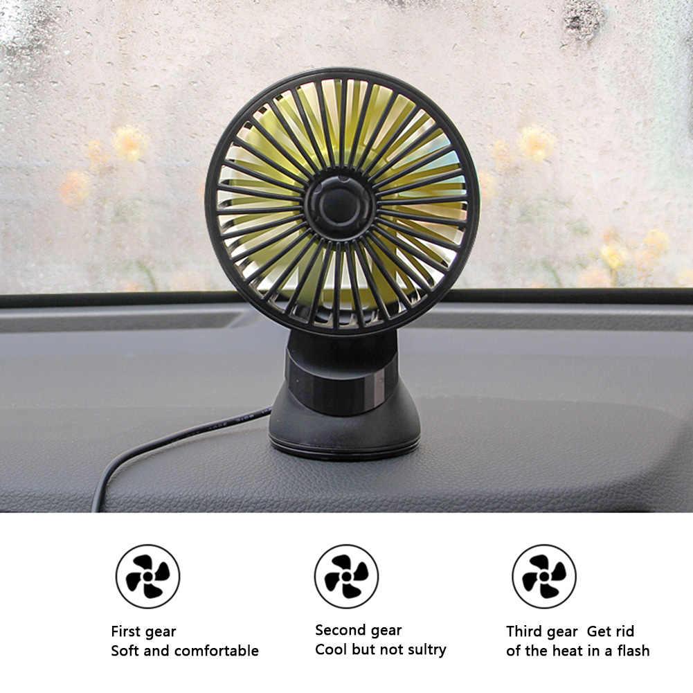 Ventilador USB para coche Mini Escritorio de Oficina 12V 24V multifunción recargable y silencioso ventosa Universal Mini ventilador con Control de 3 engranajes