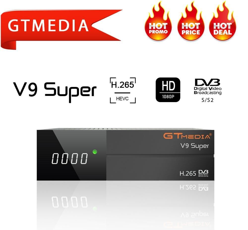 GTmedia V9 Super DVB S2 Receptor 4k Satellite Receiver Digital H.265 1080p Full HD Support Cccam Newcam Youtube PVR Wifi PowerVu