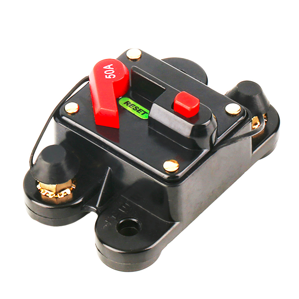 50A   60A 80A 100A 125A 150A 200A 250A  Optional Car Audio Inline Circuit Breaker Fuse For 12V Protection SKCB-01-100A Hot Sale