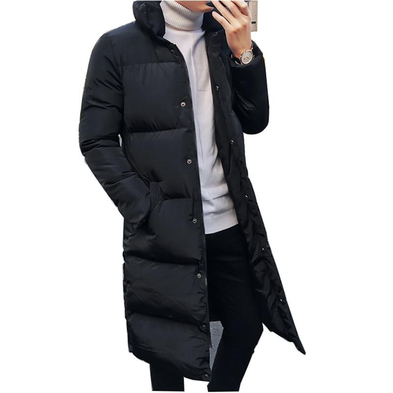 2019 Winter Men's Casual Down Jackets Coats Long Men's High Quality Casual Fashion Pike Jacket Men's Thick Windbreaker Jacket