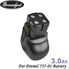 Bonadget 7.2V 3000mAh NI-MH Replacement Battery For Dremel 757-01 7700-01 7700-02 Chargeable Handheld Power Tool Battery Special(China)