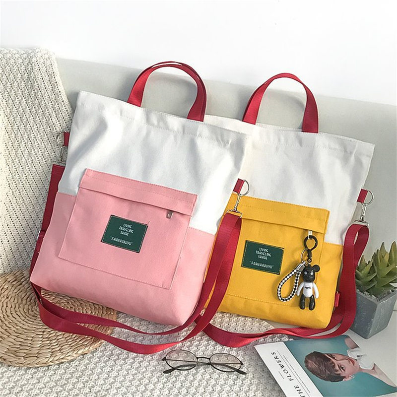 1PC New Multi-Purpose Canvas Bag Korean Shoulders Teenage School Backpacks School Bag Handbag Wholesale Mochila Feminina