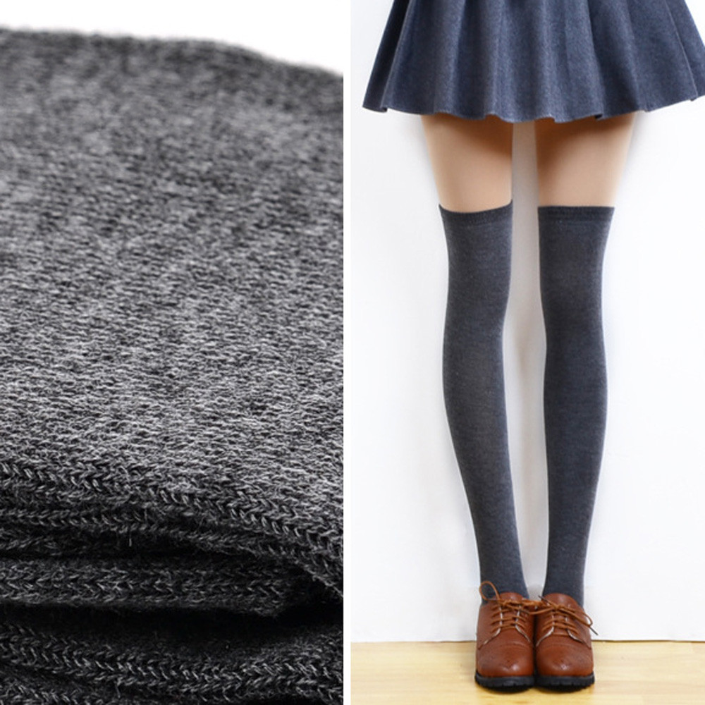 Socks Women Long Socks Women Fashion Soft Comfortable Sexy Thigh High Over The Knee Socks Long Cotton Stockings чулки Z5