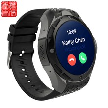 Reloj inteligente 3G teléfono Android 5,1 Quad Core 2,0 MP Cámara GPS impermeable hombres reloj inteligente MTK6580 Bluetooth IOS y Android 460mAh(China)