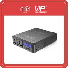 ALLPOWERS güç bankası 154W 41600mAh süper yüksek kapasiteli harici pil şarj cihazı taşınabilir jeneratör AC DC USB kablosuz