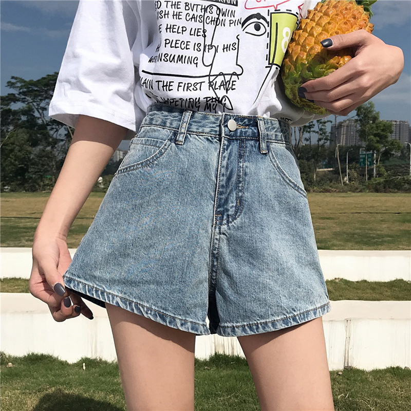 Fat Mm Handsome Large Size Denim Shorts WOMEN'S Dress Summer Plus-sized 200 Large GIRL'S Loose-Fit Slimming Hot Pants