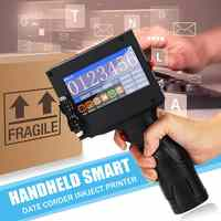 220V Handheld Touch Screen Label Inkjet QR Printer USB Automatic Coding Machine Production Date English System Smart Encoder