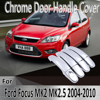 for Ford Focus 2 MK2 MK2.5 2004~2010 2005 2006 Styling Stickers Decoration Chrome Door Handle Cover paint Refit Car Accessories image