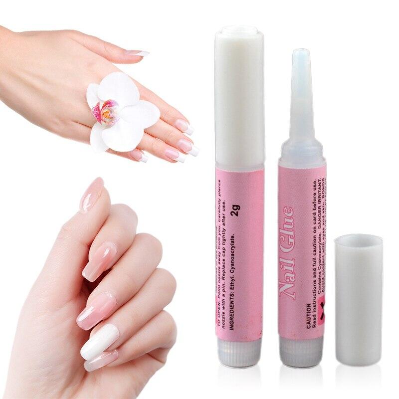 2g  Fashion Mini Beauty Nail Glue False Art Decorate Tips Acrylic Nail Glue Portable High Quality  Nail Art Tool TSLM1