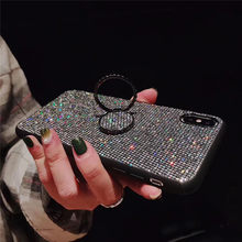 Luxury Bling Diamond Ring Holder Case For huawei P20 Lite Case p20 pro cover For huawei p30 lite pro p 30 P10 Plus Phone Coque(China)