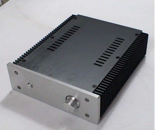 KYYSLB 212*0*257 MM Amplifier Chassis  All-aluminum Chassis With Small Radiators On Both Sides 2107 Amplifier Housing DIY Case