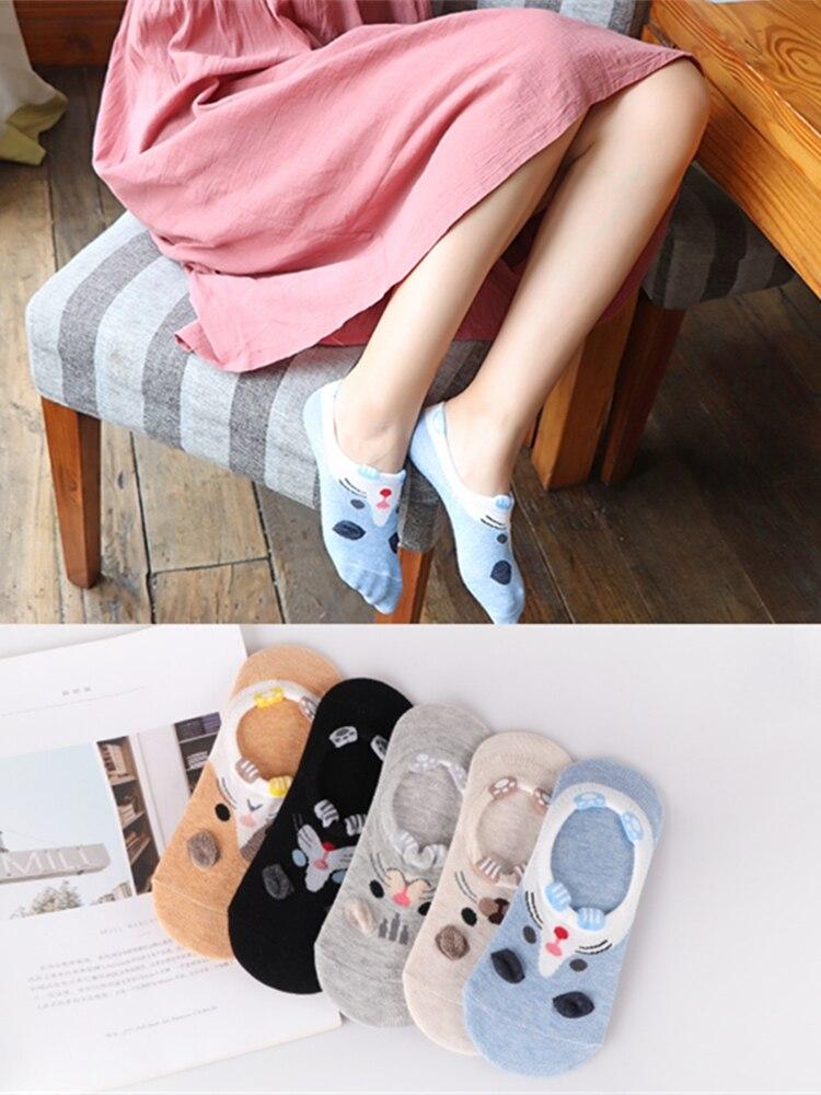 Animal Socks-Set Ankle-Sock Panda Happy Funny Cat Harajuku Dog Autumn 28-Style Women