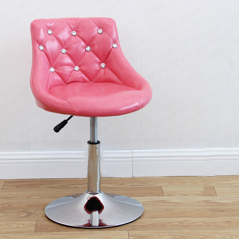 B European Bar Stool Chair Lift Swivel Chair Bar Stool Beauty Dressing Backrest Dining Chair Makeup Artist Chair