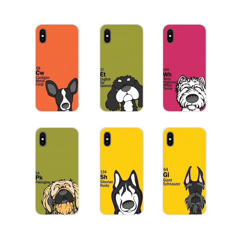 For Samsung A10 A30 A40 A50 A60 A70 Galaxy S2 Note 2 3 Grand Core Prime Periodic table of ele ments dog Mobile Phone Shell Cover