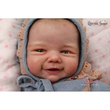 DIY Blank Reborn Baby Doll Parts Smile 20 inch  Vivienne Unpainted Unfinished Doll Parts Baby Unfinished Vinyl Kit