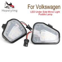 цена на 2PCs CANbus Led Under Side Mirror Puddle Light Module For Vw Volkswagen CC Passat B7 EOS Scirocco White Led Lamp
