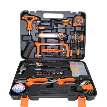 цена на 82PCS/Set Socket Wrench Tool Set Auto Repair Mixed Tool Combination Package Hand Tool Kit with Plastic Toolbox Home DIY