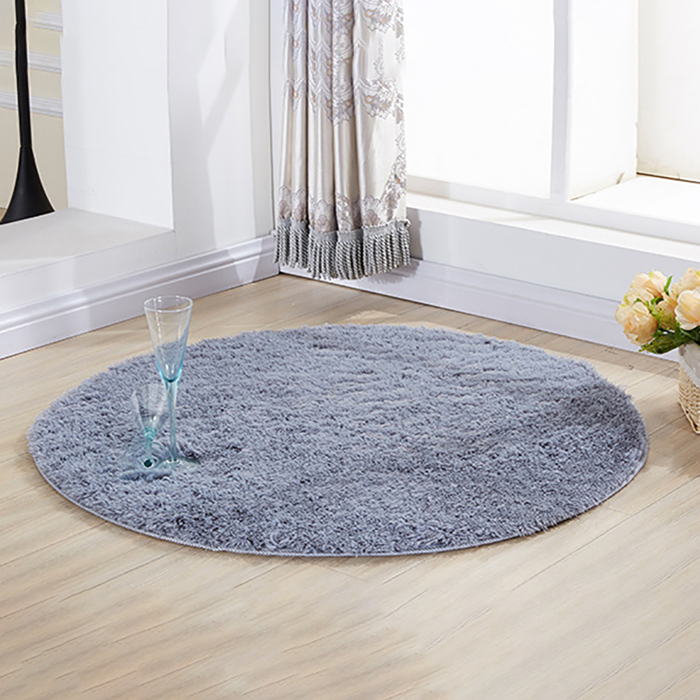 Hot Sale E04c Grand Doux Mode Shaggy Cuisine Tapis Rond Moderne