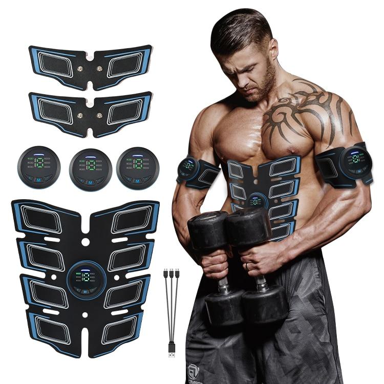 USB Перезаряжаемые EMS Смарт пресса Arm мышцы увеличивая 6 режимов ультра-тонкий всего тела мышечный Стимулятор для коррекции фигуры