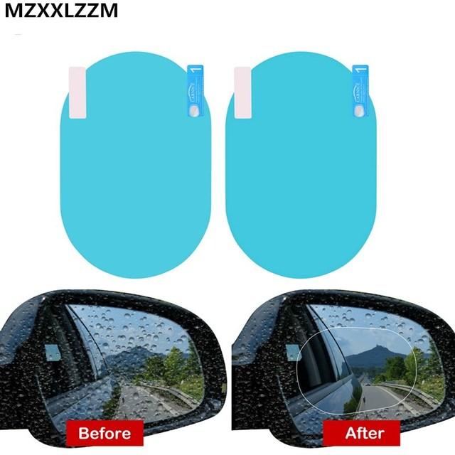 2pcs set car rearview mirror waterproof sticker window transparent film Anti fog anti-glare window foil auto protective stickers 5