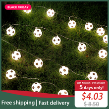 JSEX פיות אור עם Remot מחרוזת חג זר כדור Led אור חיצוני עץ חג המולד חתונה בית נר מזויף קישוט