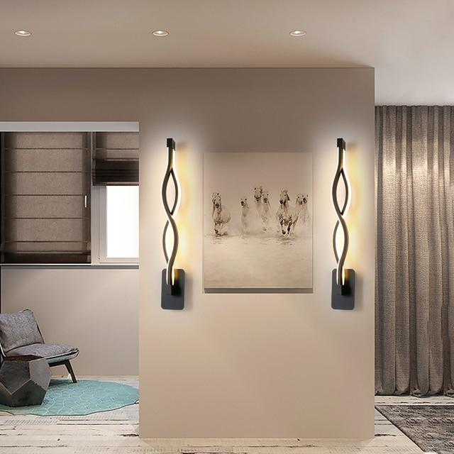 Wall Lamp Living Room Bedroom Bedside Black Nordic Sconce Aisle Corridor Modern LED Wall Light Decor Indoor Lighting Fixtures 5