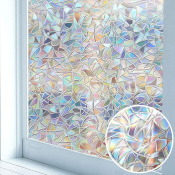 Luckyj 3D folie okienne samoprzylepne statyczne prywatność przylega szkło dekoracyjne naklejki na okna anty-uv DIY wystrój naklejki na szkło tanie i dobre opinie LUCKYYJ Statyczne czepiać L001 Tłoczone Matowe trawione Nieprzezroczyste Stained Szkło filmy Przeciwwybuchowe Izolacja cieplna